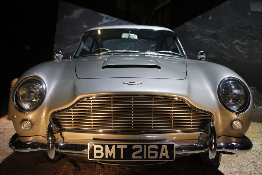 An Aston Martin DB5 from the James Bond film