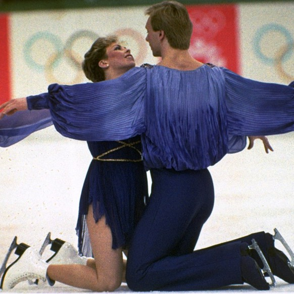 Jayne Torvill and Christopher Dean perform during their