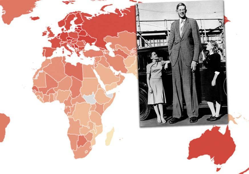 Körpergröße männer weltweit durchschnittliche Durchschnittsgewicht weltweit