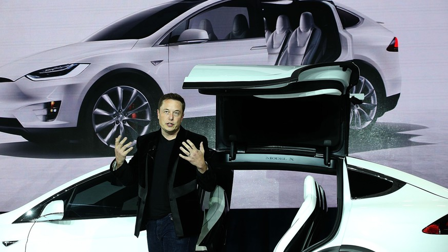 FREMONT, CA - SEPTEMBER 29:  Tesla CEO Elon Musk speaks during an event to launch the new Tesla Model X Crossover SUV on September 29, 2015 in Fremont, California. After several production delays, Elon Musk officially launched the much anticipated Tesla Model X Crossover SUV.  (Photo by Justin Sullivan/Getty Images)