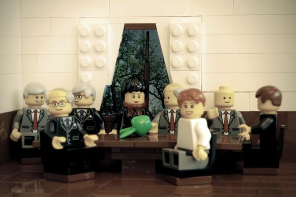 BRW15 Lego Das neue Bundesratsfoto mit Guy Parmelin als neuen Bundesrat