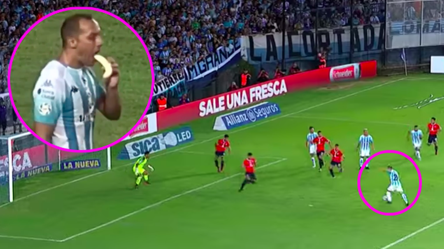 Ex-FCB-Star Diaz verdrückt mitten im Spiel eine Banane – und wird durch Tor zum Derby-Held