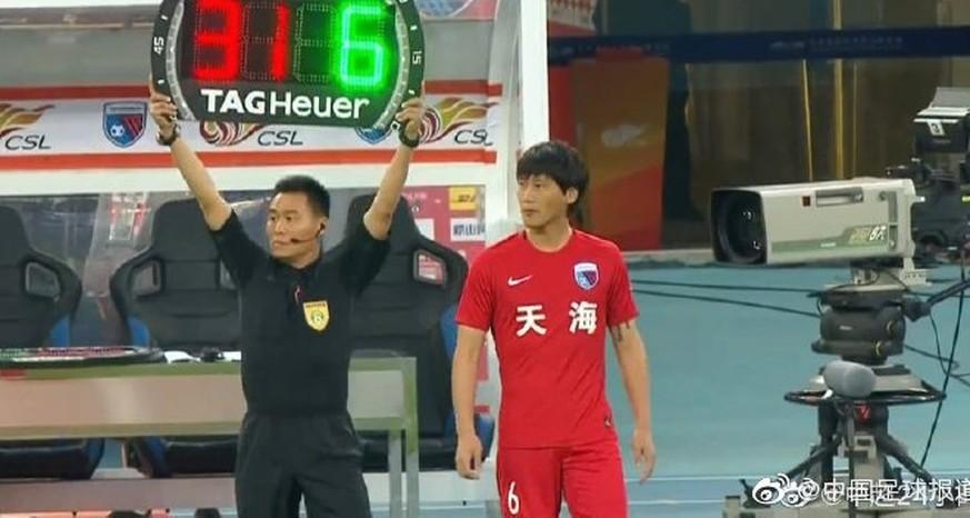 China: U23-Spieler Junjie Wen wird nach 55 Sekunden ausgewechselt