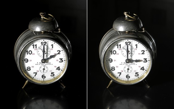 THEMENBILD - Illustration zur Zeitumstellung von Winterzeit auf Sommerzeit, fotografiert am Dienstag, 25. Maerz 2014. Am kommenden Sonntag, 30. Maerz wird die Uhr um 2:00 Uhr eine Stunde nach vor auf 3:00 gestellt. (KEYSTONE/APA-FOTO: GEORG HOCHMUTH)