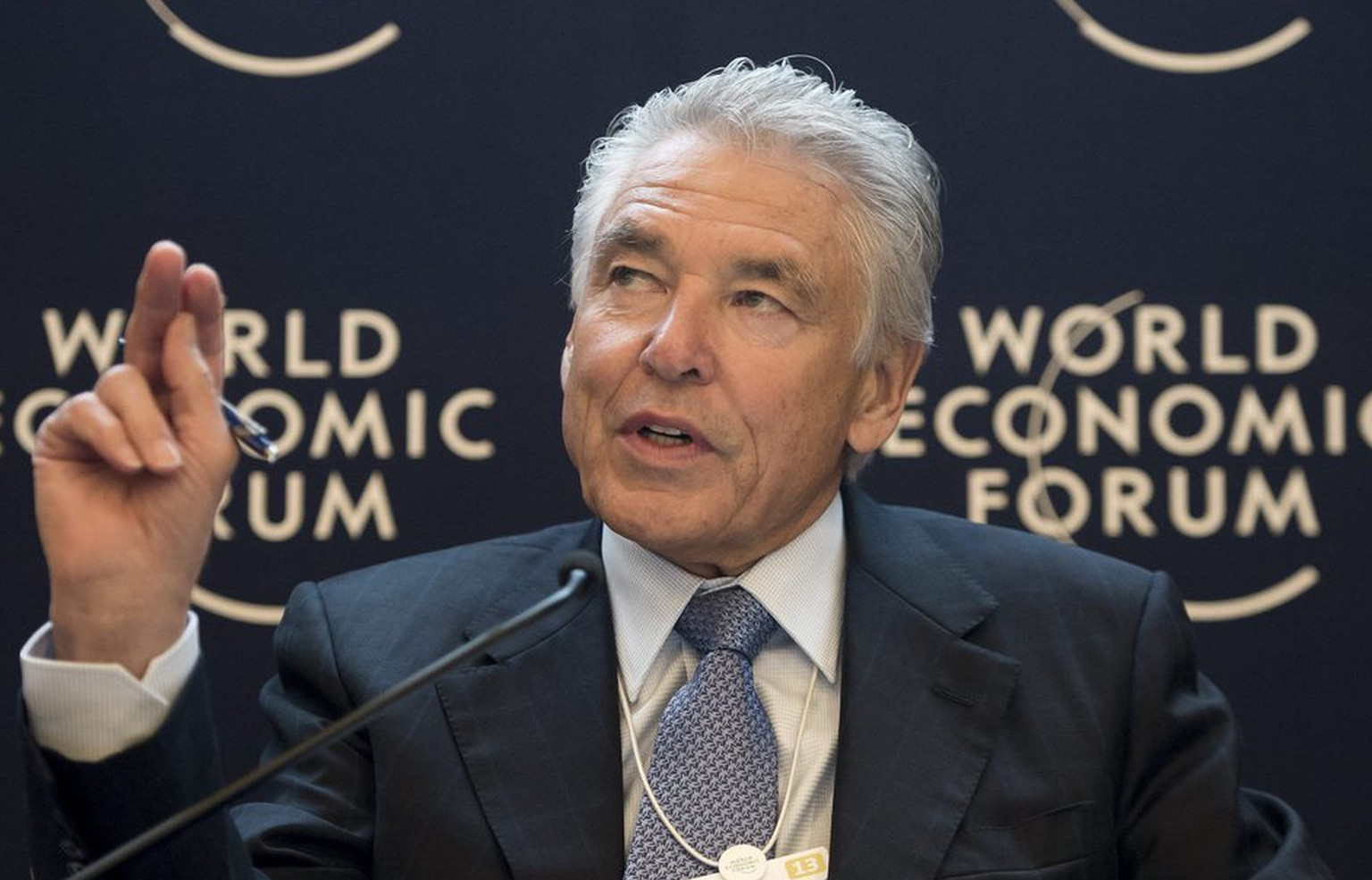 Peter Brabeck-Letmathe, Chairman of the Board, Nestle, speaks during a panel session at the 43rd Annual Meeting of the World Economic Forum, WEF, in Davos, Switzerland, Friday, January 25, 2013. The overarching theme of the meeting, which will take place from 23 to 27 January, is