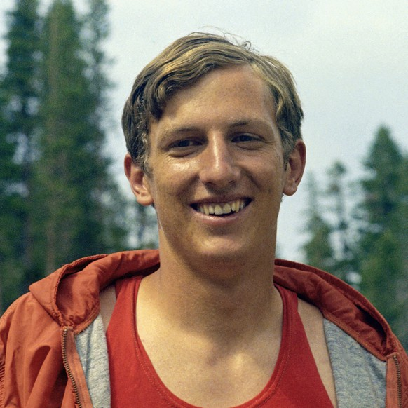 Dick Fosbury Olympic high jumper during high altitude training at Echo Summit, July 1968. The site is in the Eldorado National forest at an altitude of 7377 feet. (AP Photo)