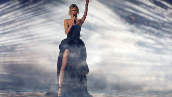 epa07578548 Nevena Bozovic of Serbia performs during rehearsals for the Grand Final of the 64th annual Eurovision Song Contest (ESC) at the Expo Tel Aviv, in Tel Aviv, Israel, 17 May 2019. The Grand Final is held on 18 May.  EPA/ABIR SULTAN