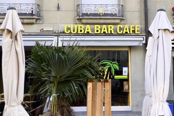Der voruebergehend geschlossene Club Cuba Bar fotografiert am Samstag, 10. Oktober 2020 in Bern. Ein Gast war nach einem Besuch letztes Wochenende im Club positiv auf das Coronavirus getestet worden. 635 Gaeste der Cuba Bar mussten in Quarantaene. (KEYSTONE/Anthony Anex)