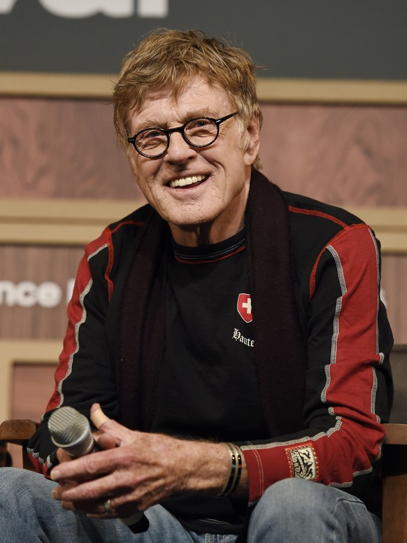 FILE - In this Jan. 21, 2016 file photo, Robert Redford, founder and president of the Sundance Institute, participates in the 2016 Sundance Film Festival Opening Day Press Conference in Park City, Utah. The festival runs through Jan. 31. (Photo by Chris Pizzello/Invision/AP, File)
