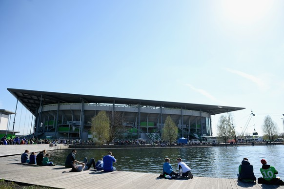 WOLFSBURG, GERMANY - APRIL 19:  A general outside view of the Volkswagen Arena is pictured prior to kickoff during the Bundesliga match between VfL Wolfsburg and FC Schalke 04 at Volkswagen Arena on April 19, 2015 in Wolfsburg, Germany.  (Photo by Dennis Grombkowski/Bongarts/Getty Images)
