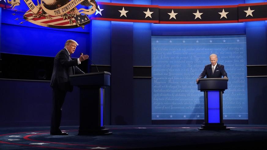 Trump will Biden ausreden lassen – 5 Punkte zur letzten TV-Debatte vor den Wahlen