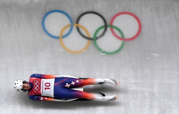 epa06517407 Martina Kocher of Switzerland in action during the Women's Luge Singles competition at the Olympic Sliding Centre during the PyeongChang 2018 Olympic Games, South Korea, 12 February 2018.  EPA/VASSIL DONEV