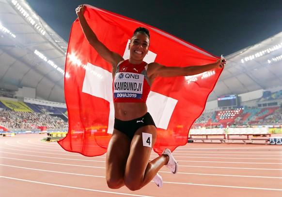 <strong>2019:</strong> Mujinga Kambundji holt in Doha sensationell WM-Bronze über 200 Meter.