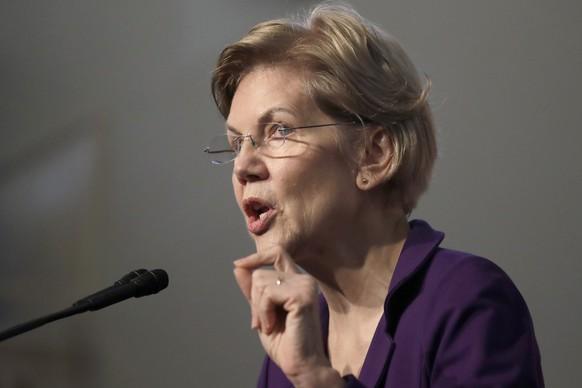 Democratic presidential candidate Sen. Elizabeth Warren, D-Mass., speaks during a campaign event at the Old South Meeting House, Friday, Dec. 31, 2019, in Boston. (AP Photo/Elise Amendola) Elizabeth Warren