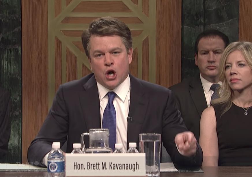 Matt Damon verhöhnt Kavanaugh auf Saturday Night Live - watson