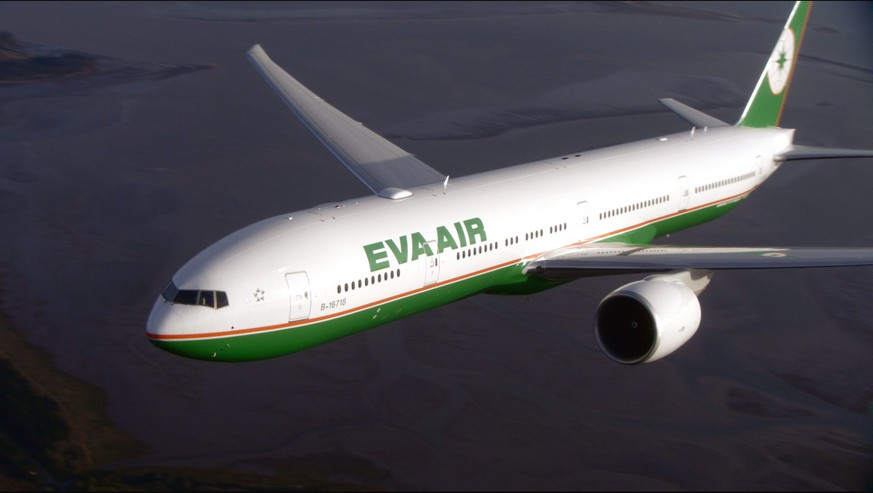 epa04320941 A handout photo from EVA Air made available on 18 July 2014 shows an EVA AIR Boeing 777-300ER passenger jet. On 18 July, EVA said it will re-route its Taiwan-European flights away from Ukraine airspace following the crash of a Malaysian Airlines passenger jet in eastern Ukraine, killing all 298 people on board. Taiwan's Civil Aeronautics Administration has ordered all Taiwan airlines to change Taiwan-Europe flight path as a precaution, following MH017's crash in eastern Ukraine.  EPA/EVA AIR HANDOUT  HANDOUT EDITORIAL USE ONLY/NO SALES