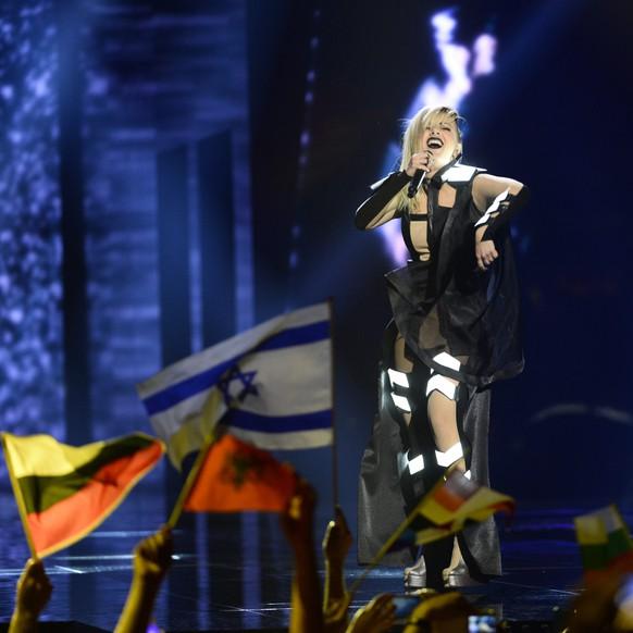 epa05300265 Poli Genova of Bulgaria performs the song 'If Love Was A Crime' during rehearsals for the Second Semi-Final of the 61st annual Eurovision Song Contest (ESC) at the Ericsson Globe in Stockholm, Sweden, 11 May 2016. The event's grand final takes place on 14 May.  EPA/MAJA SUSLIN SWEDEN OUT