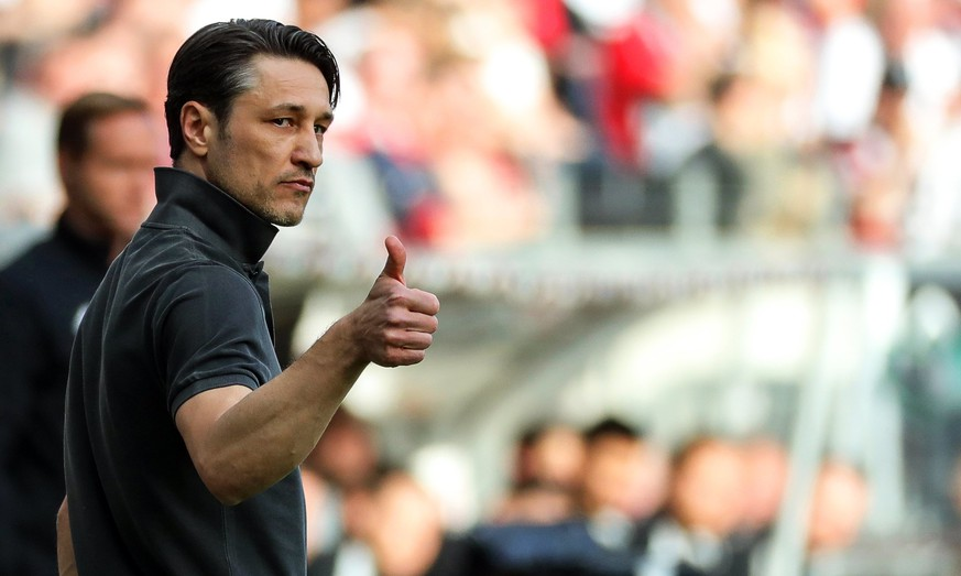 epa06665311 (FILE) - Eintracht Frankfurt's head coach Niko Kovac reacts during the German Bundesliga soccer match between Eintracht Frankfurt and TSG 1899 Hoffenheim in Frankfurt Main, Germany, 08 April 2018 (reissued 12 April 2018). Niko Kovac is set to replace Jupp Heynckes as Bayern Munich's head coach next season, according to German media reports on 12 April 2018.  EPA/ARMANDO BABANI