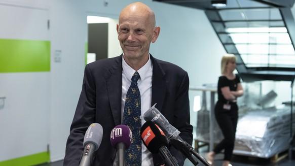 Daniel Koch, Delegierter des Bundesamt fuer Gesundheit, BAG, fuer die Coronavirus Pandemie Covid-19, verabschiedet sich von den Medien und wird pensioniert, am Donnerstag, 28. Mai 2020, in Bern. (KEYSTONE/Peter Schneider)