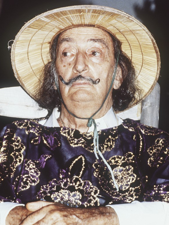 FILE - This Aug. 14, 1979, file photo, shows Spanish surrealist painter Salvador Dali on at his home in Port Lligat on the Costa Brava, Spain. If the name Salvador Dali conjures images of melting watches and one conspicuous mustache but not much else, then a visit to Spain's