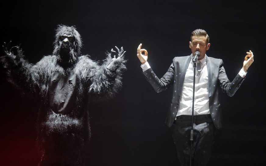 Italy's Francesco Gabbani performs the song