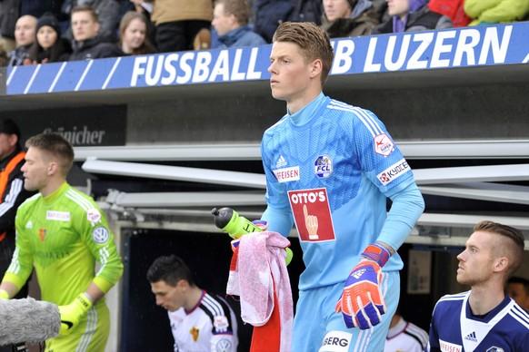21.03.2015; Luzern; Fussball Super League - FC Luzern - FC Basel; Torhueter Jonas Omlin (Luzern) (Martin Meienberger/freshfocus)