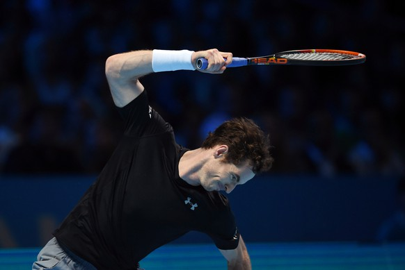 Tennis - Barclays ATP World Tour Finals - O2 Arena, London - 20/11/15 Men's Singles - Great Britain's Andy Murray reacts during his match against Switzerland's Stanislas Wawrinka Action Images via Reuters / Tony O'Brien Livepic EDITORIAL USE ONLY.
