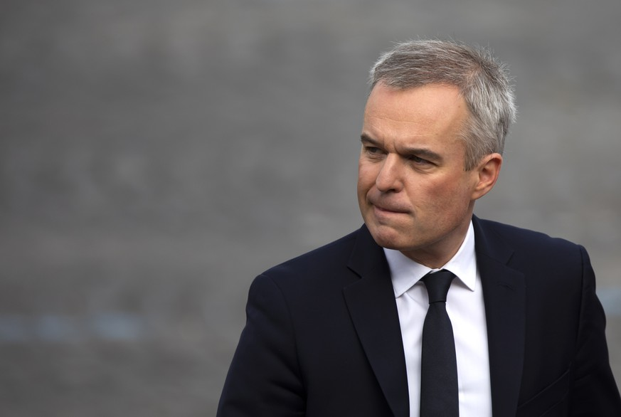 epa07720477 (FILE) French Environment Minister Francois de Rugy attends the annual Bastille Day military parade on the Champs Elysees avenue in Paris, France, 14 July 2019 (reissued 16 July 2019). Francois de Rugy presented his resignation to the French Prime Minister on 16 July 2019, following a controversy about the alleged misuse of public funds. According to French news website Mediapart on 10 July 2019, the then-President of the French National Assembly Francois de Rugy organized several sumptuous private dinners with public funds at the Hotel de Lassay, residence of the President of the French National Assembly. De Rugy claimed during a press conference that they were working dinners.  EPA/IAN LANGSDON