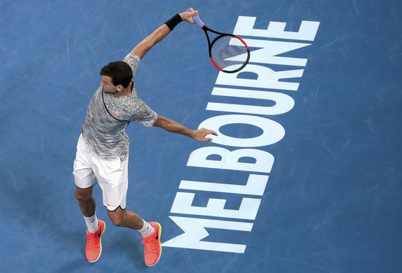 Tennis - Australian Open - Melbourne Park, Melbourne, Australia - 27/1/17 Bulgaria's Grigor Dimitrov hits a shot during his Men's singles semi-final match against Spain's Rafael Nadal. REUTERS/Jason Reed