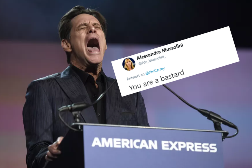 Jim Carrey verärgert Mussolini-Enkelin mit Karikatur
