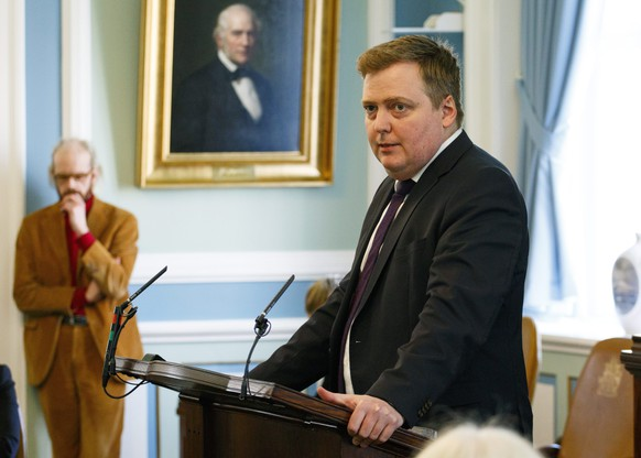 epa05244860 A photo dated 04 April 2016 of Iceland's Prime Minister Sigmundur David Gunnlaugsson speaking at the Icelandic Parliament in Reykjavik, Iceland. Media reports on 05 April 2016 state that Gunnlaugsson has asked the president to dissolve parliament in a move to allow early elections after he was named as one of the allegedly involved as millions of leaked documents published on 03 April 2016 suggest that 140 politicians and officials from around the globe, including 72 former and current world leaders, have connections with secret 'offshore' companies to escape tax scrutiny in their countries.  EPA/STR ICELAND OUT