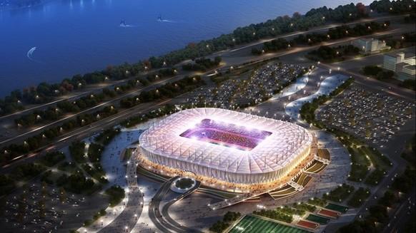 WM 2018 Stadien. Rostow am Don (1,1 Mio. Einwohner). - Stadion: Rostow Arena. - Kapazität: 45'000. -