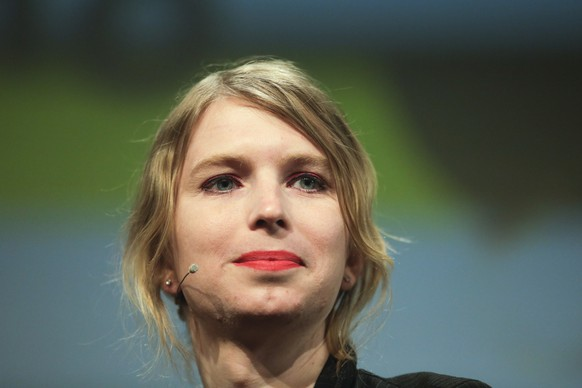 FILE - In this May 2, 2018, file photo, Chelsea Manning attends a discussion at the media convention