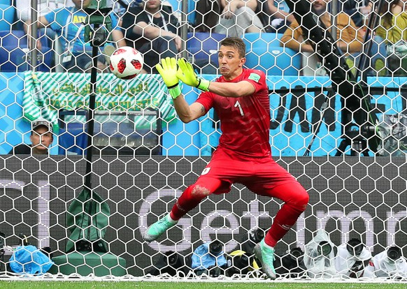 epa06868598 Uruguay's goalkeeper Fernando Muslera concedes Uruguay's 2-0 lead during the FIFA World Cup 2018 quarter final soccer match between Uruguay and France in Nizhny Novgorod, Russia, 06 July 2018.