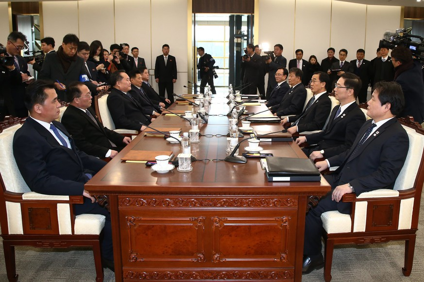 Vertreter Süd- und Nordkoreas treffen aufeinander