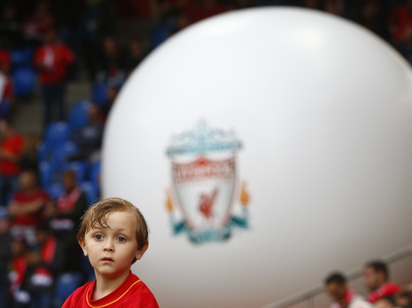 Football Soccer - Liverpool v Sevilla - UEFA Europa League Final - St. Jakob-Park, Basel, Switzerland - 18/5/16 Young Liverpool fan before the game Reuters / Ruben Sprich Livepic EDITORIAL USE ONLY.