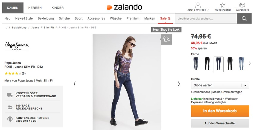 zalando screenshots facebook