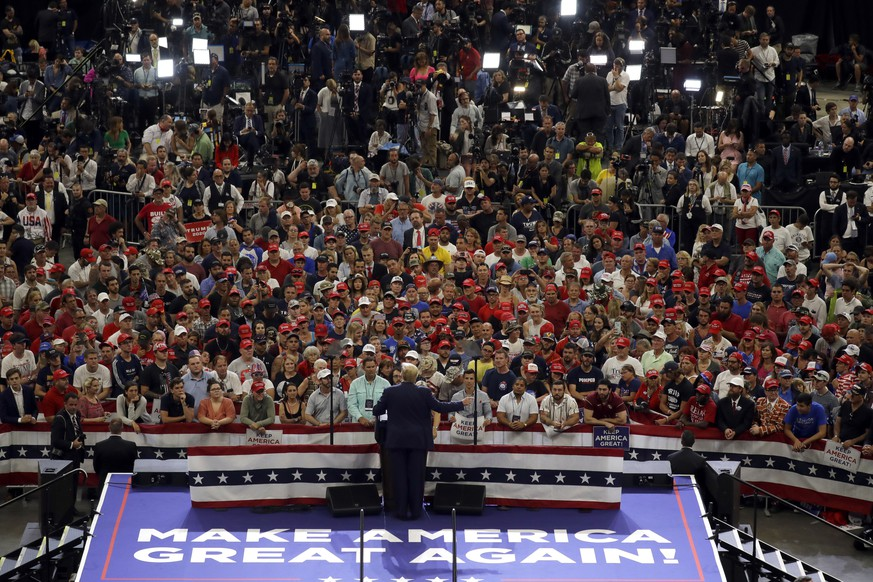 President Donald Trump speaks during his re-election kickoff rally at the Amway Center Tuesday