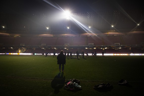 Power failure during the Training the day before UEFA Europa League match between Italian's SSC Neapel and Switzerland's FC Zuerich, at the Stadio San Paolo in Neapel, Italy, on Wednesday, February 20, 2019. (KEYSTONE/Melanie Duchene)