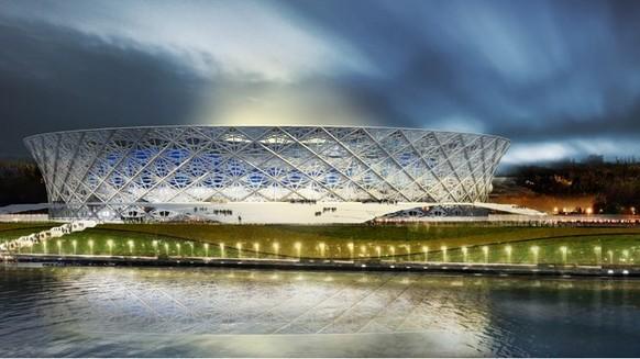 WM 2018 Stadien. Wolgograd (1 Mio. Einwohner). - Stadion: Wolgograd Arena. - Kapazität: 45'565.