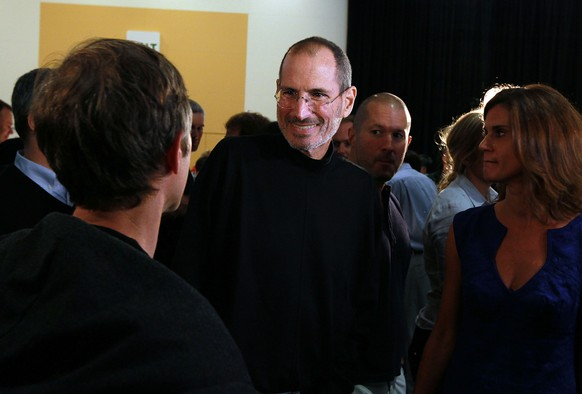 SAN FRANCISCO - JUNE 07:  Apple CEO Steve Jobs greets an attendee after he delivered the opening keynote address at the 2010 Apple World Wide Developers conference June 7, 2010 in San Francisco, California. Jobs kicked off their annual WWDC with the announcement of the new iPhone 4.  (Photo by Justin Sullivan/Getty Images)