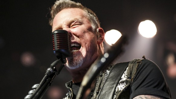 James Hetfield of Metallica performs at The Fonda on Thursday, Dec. 15, 2016, in Los Angeles. (Photo by Rich Fury/Invision/AP)