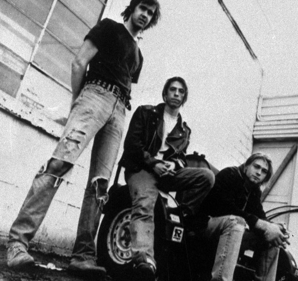 Members of the band Nirvana shown in a 1991 photo are (from left) Krist Novoselic, David Grohl, and Kurt Cobain. Novoselic recently sat down with former (Aberdeen) Daily World Publisher and Editor John Hughes for an oral history, which was released Feb. 24, 2009 by the Washington secretary of state's Legacy Project. Novoselic said fans should not expect any more Nirvana songs to be released. (AP Photo/Chris Cuffaro)