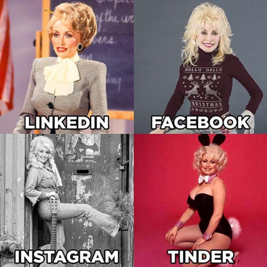 Dolly Parton zeigt, wie wir auf Facebook, Insta, Tinder und Co. ticken