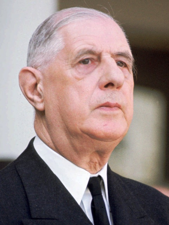 An undated photo of General Charles de Gaulle (1890-1970). France will celebrate Thursday November 9, 1995 the 25th anniversary of his death. The celebrations will be presided by President Chirac, who headed the gaullist Rally For the Republic party. (KEYSTONE/AP Photo)