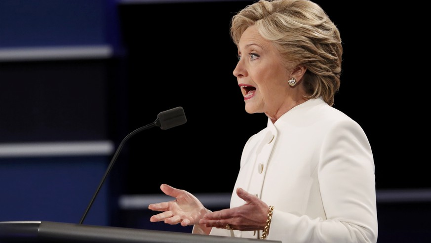 Democratic nominee Hillary Clinton speaks during the third and final 2016 presidential campaign debate with Republican U.S. presidential nominee Donald Trump (not pictured) at UNLV in Las Vegas, Nevada, U.S., October 19, 2016. REUTERS/Rick Wilking