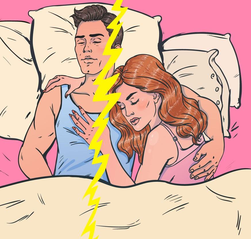 Was bedeutet es, wenn mein Freund getrennte Decken zum Schlafen will?