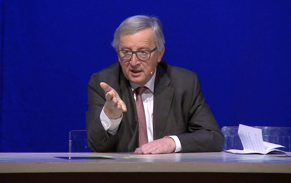 REFILE - CORRECTING SOURCE AND ADDING RESTRICTIONSEuropean Commission President Jean-Claude Juncker is seen in this screen grab addressing a conference on the twenty-fifth anniversary of the signing of the Maastricht Treaty, in Maastricht, Netherlands, December 9, 2016. European Commission via Reuters TV/Handout. REUTERS ATTENTION EDITORS - THIS IMAGE HAS BEEN SUPPLIED BY A THIRD PARTY. THIS PICTURE IS DISTRIBUTED EXACTLY AS RECEIVED BY REUTERS, AS A SERVICE TO CLIENTS. FOR EDITORIAL USE ONLY. NO RESALES. NO ARCHIVES.