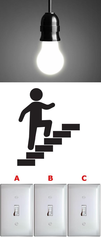 Rätsel der Woche: Eine Glühbirne, drei Schalter – welcher zündet die ...
