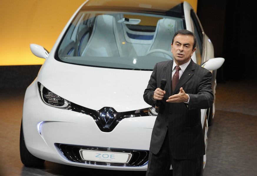 epa07182770 (FILE) - Carlos Ghosn, Chairman and Chief Executive Officer of Renault-Nissan Alliance attends a press conference to present the group's 2010 results, in Boulogne-Billancourt, outside Paris, France on 10 February 2011 (reissued 22 November 2018). Media reports on 22 November 2018 state that Nissan has dismissed chairman Carlos Ghosn from his post over financial misconduct claims after conducting an internal investigation which showed Mr Ghosn had been allegedly under-reporting his pay.  EPA/EMMA FOSTER *** Local Caption *** 02573885